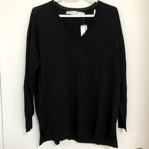 Simons lightweight black sweater small NWT